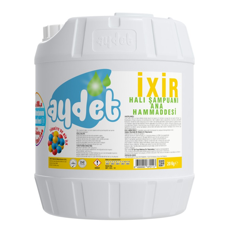 Aydet Ixir Extreme Carpet Shampoo Raw Material 20 Kg