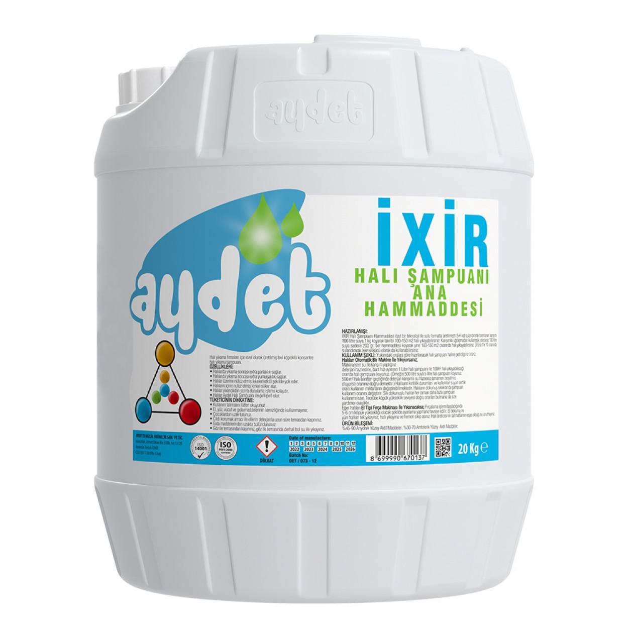 İxir Extreme Halı Şampuanı Ana Hammaddesi 20 Kg
